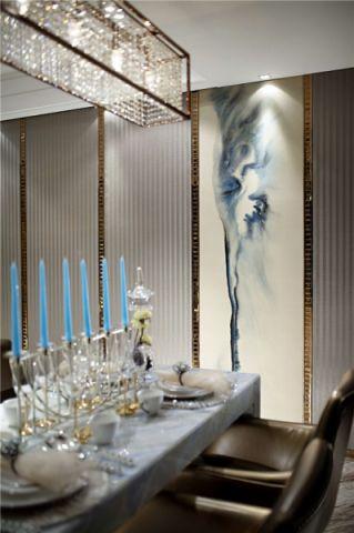 餐厅背景墙中式风格装潢图片