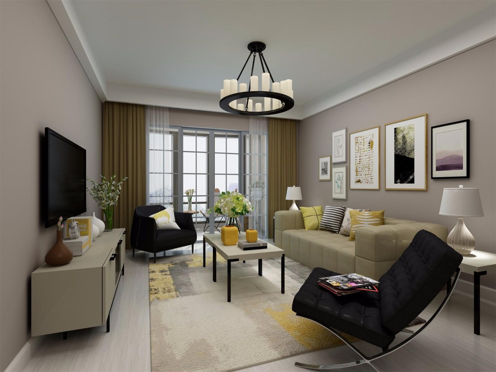 3室1卫2厅85平米现代简约风格