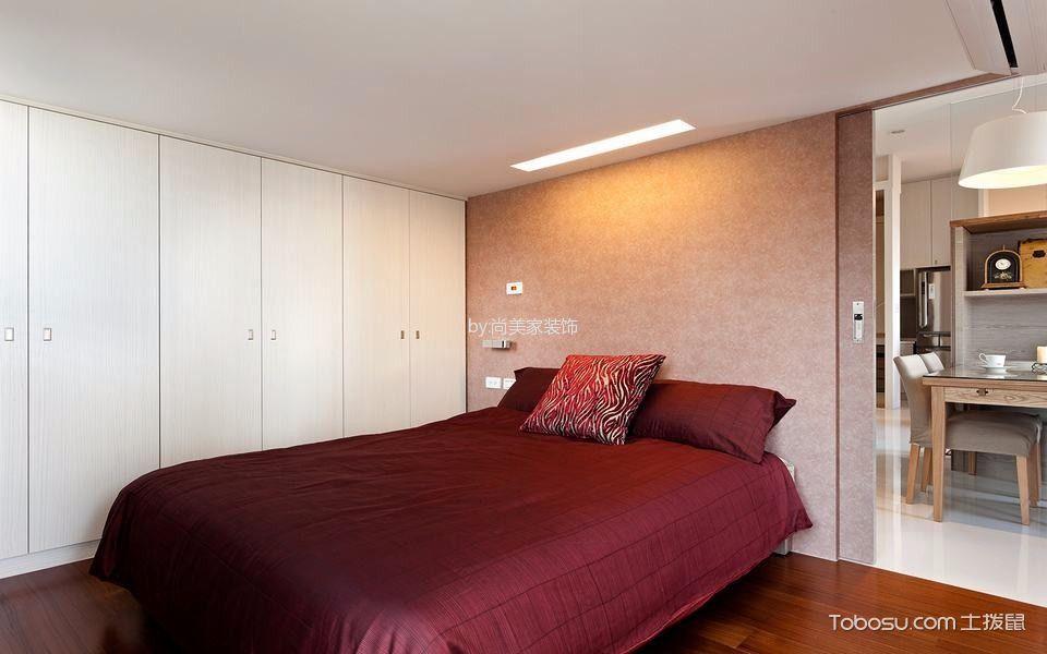 卧室白色衣柜现代风格装潢图片