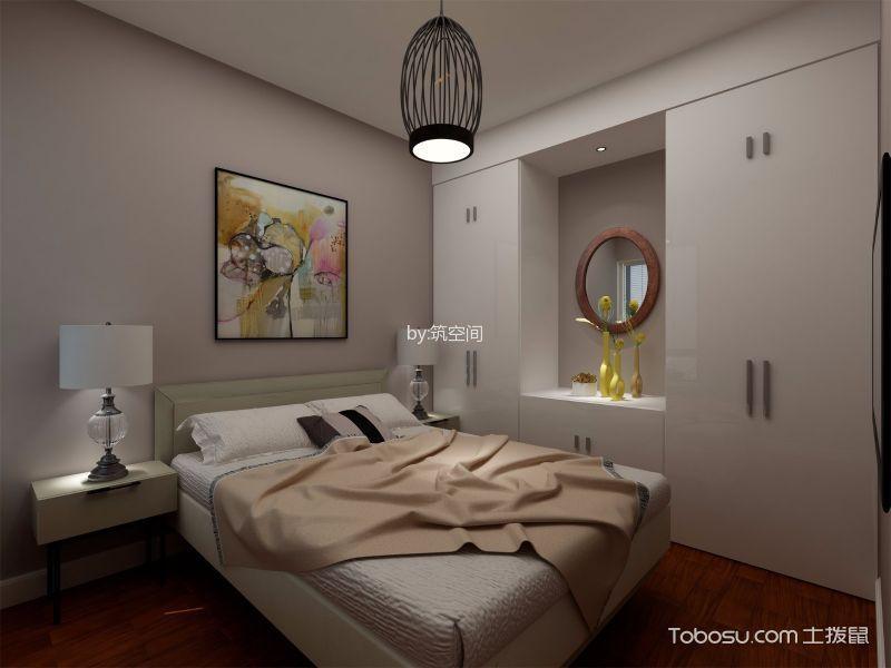 上海中海悦府(公寓)85平米现代简约风格效果图