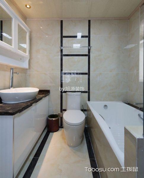 卫生间米色背景墙中式风格效果图