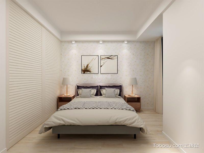 卧室白色吊顶北欧风格装潢图片