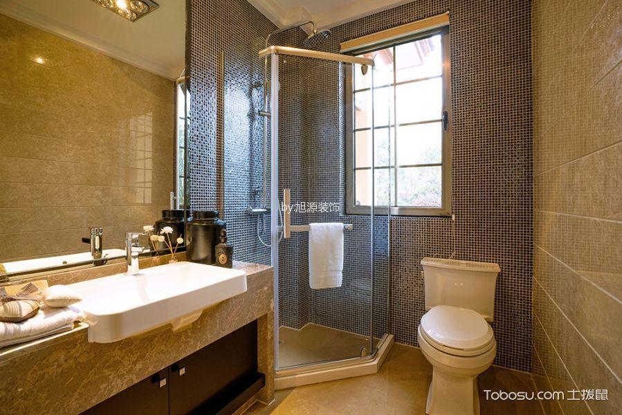 卫生间黄色背景墙中式风格装修图片