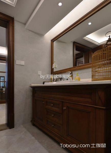 卫生间白色吊顶混搭风格装潢效果图