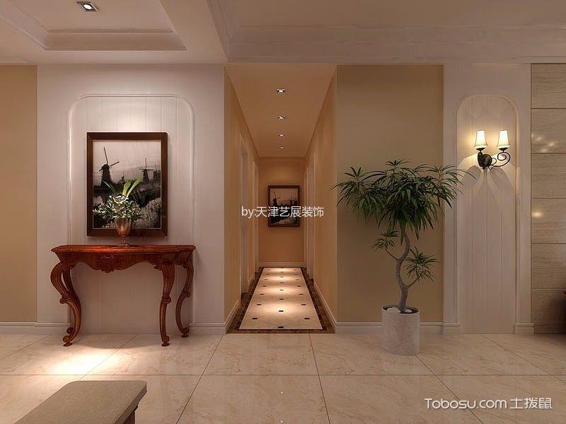 玄关米色吊顶美式风格装潢效果图