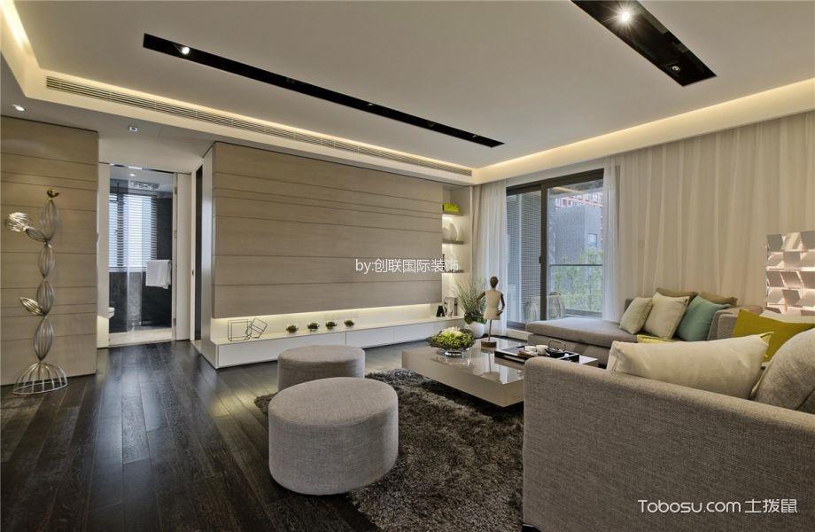 现代间约风格120平米三室两厅室内装修效果图
