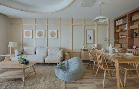 客厅隔断日式风格装修设计图片