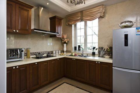 厨房背景墙新古典风格装潢设计图片