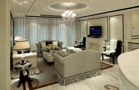 法式风格100平米三室两厅室内装修效果图
