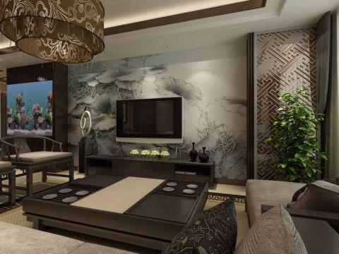 中式风格120平米两室两厅室内装修效果图