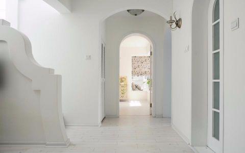 玄关白色背景墙田园风格装饰图片
