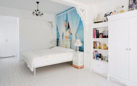 卧室彩色背景墙田园风格效果图