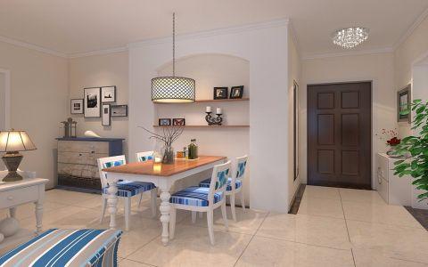 餐厅白色背景墙地中海风格装修效果图