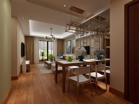 上海中海悦府90平米简欧三居室效果图