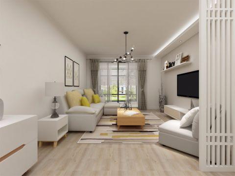 北欧风格131平米4房2厅房子装饰效果图