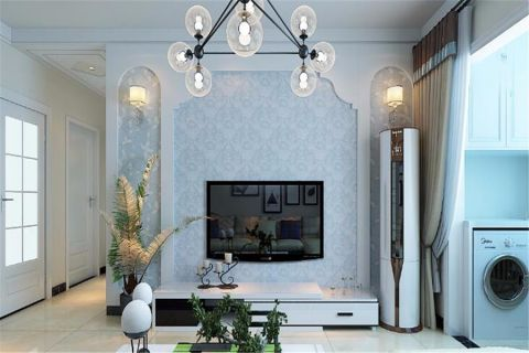 现代简约风格115平米楼房房子装饰效果图