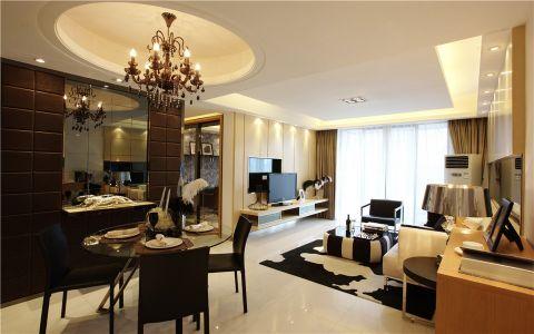 简欧风格117平米3房2厅房子装饰效果图