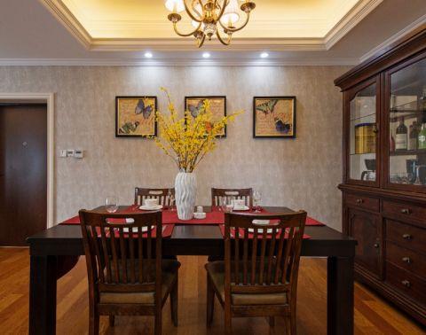 餐厅照片墙中式风格装潢效果图