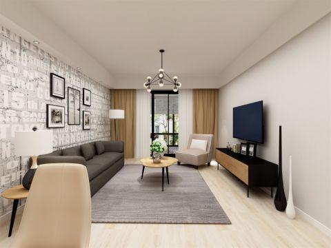 北欧风格106平米2房2厅房子装饰效果图
