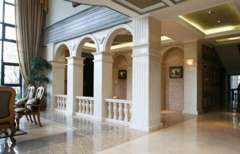 客厅走廊欧式风格装潢图片