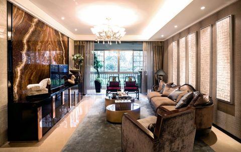 中式风格130平米三房两厅新房装修效果图