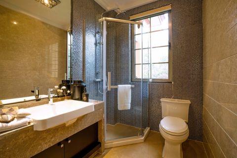 卫生间背景墙中式风格装修图片