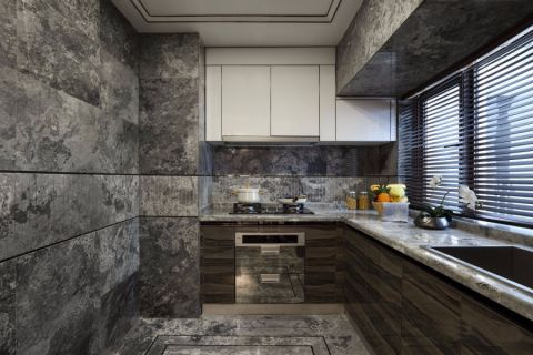 厨房背景墙欧式风格装潢效果图