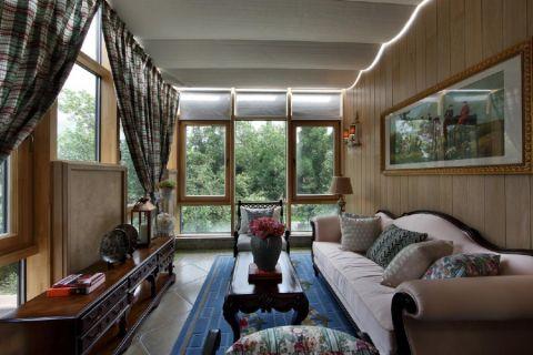 客厅沙发美式风格装饰图片