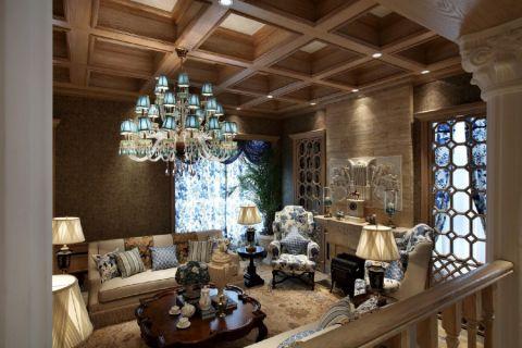 美式风格260平米别墅房子装饰效果图