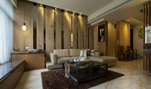 新中式风格133平米三室两厅室内装修效果图