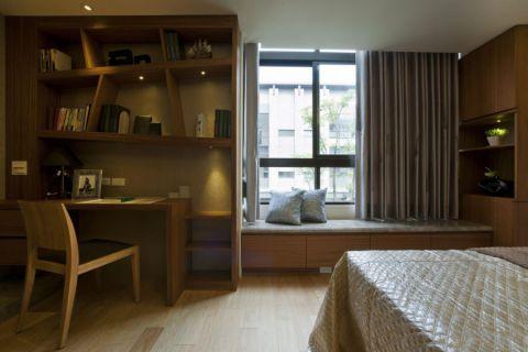 卧室博古架新中式风格装修图片