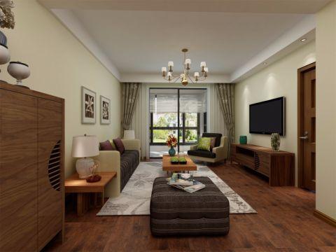 简中式风格116平米3房2厅房子装饰效果图