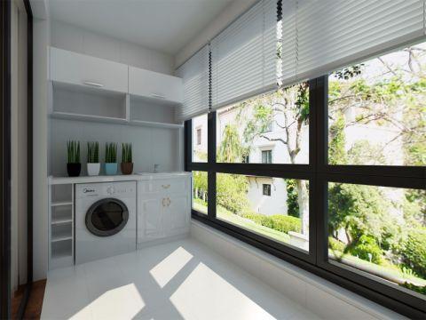 阳台窗帘简中风格装修设计图片