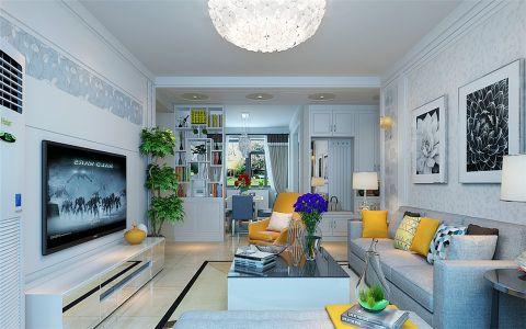 客厅博古架现代简约风格装修图片