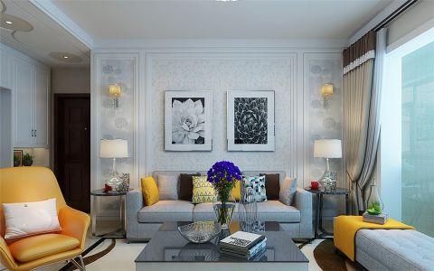 现代简约风格140平米三室两厅室内装修效果图