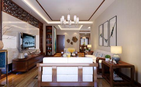 客厅灯具中式风格装饰效果图