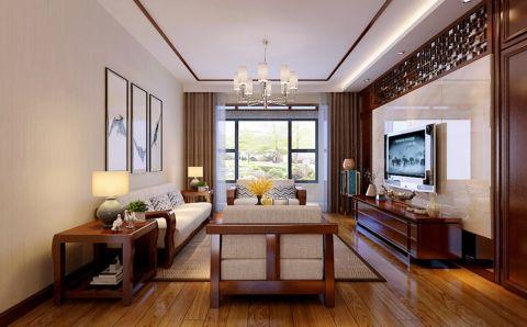 客厅窗帘中式风格装潢效果图