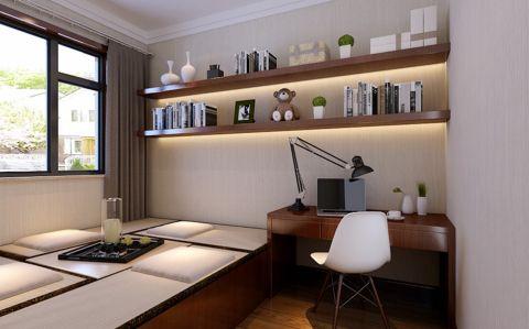 卧室书桌中式风格装修设计图片