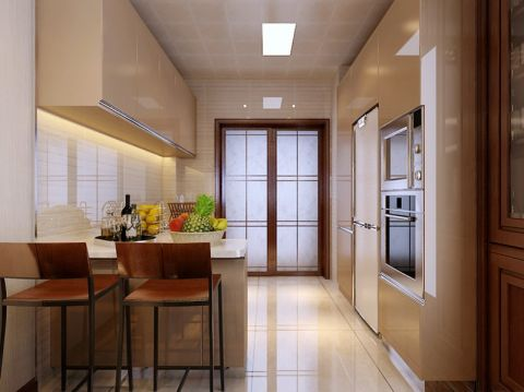 厨房吧台中式风格装潢设计图片
