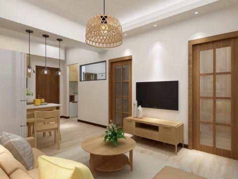 日式风格54平米小户型新房装修效果图