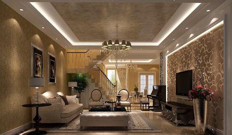 简欧风格127平米三室两厅室内装修效果图