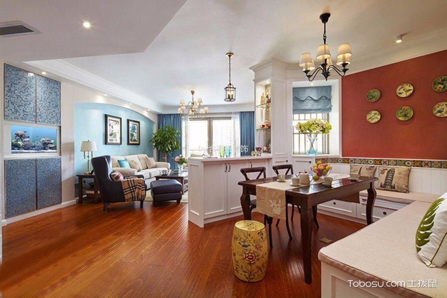 餐厅黄色地板砖美式风格效果图
