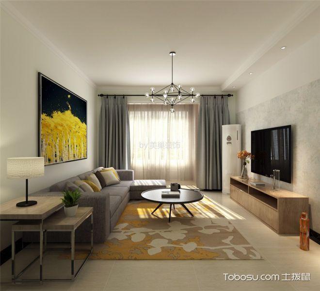 现代风格112平米3房2厅房子装饰效果图