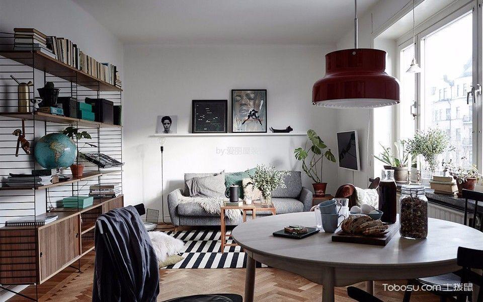 现代简约风格60平米一房两厅新房装修效果图