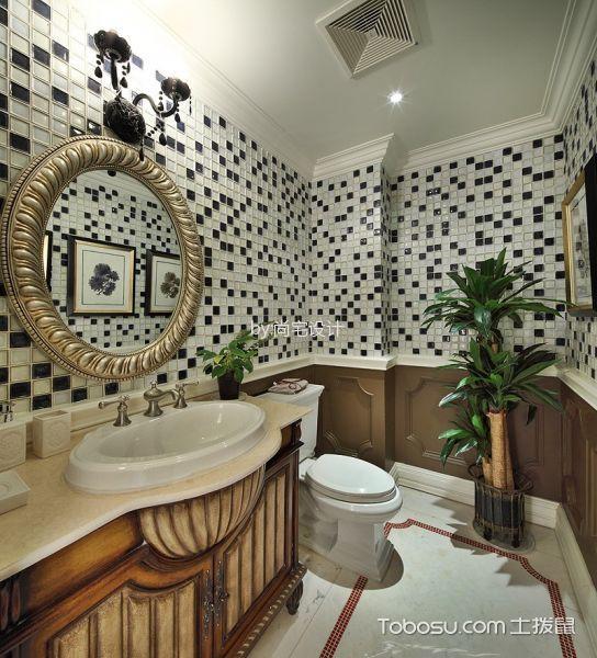 卫生间白色吊顶简约风格装潢图片