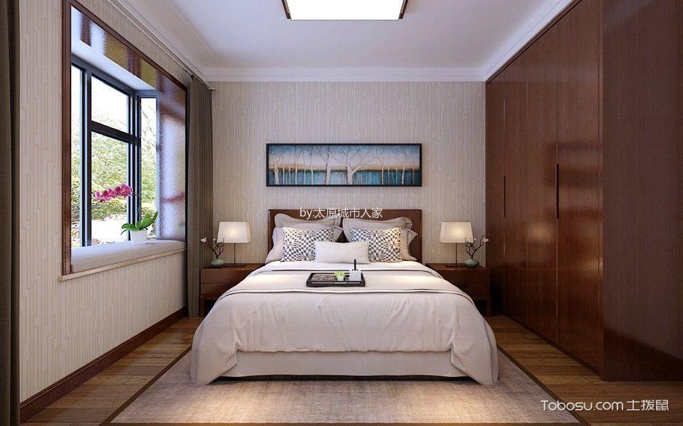卧室咖啡色衣柜中式风格装修设计图片