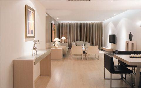 现代简约风格100平米三房两厅新房装修效果图
