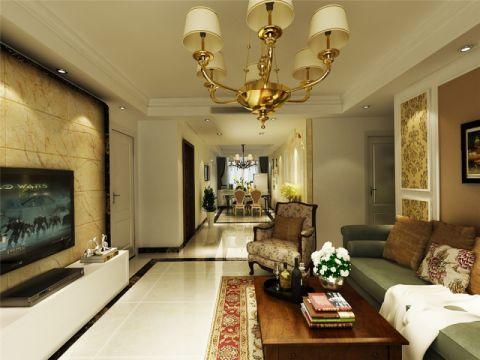 简欧风格128平米3房2厅房子装饰效果图