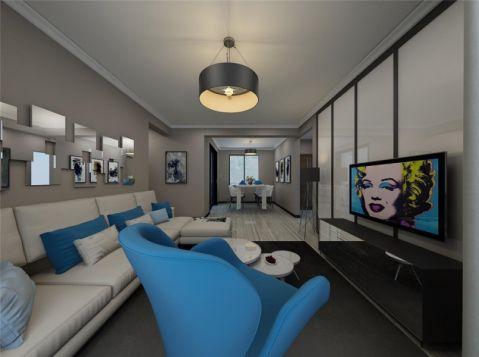 现代简约风格108平米2房2厅房子装饰效果图