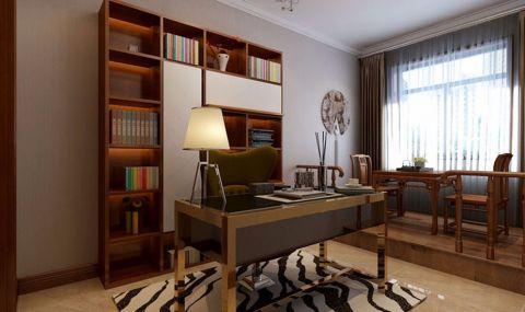 书房博古架现代简约风格装饰图片